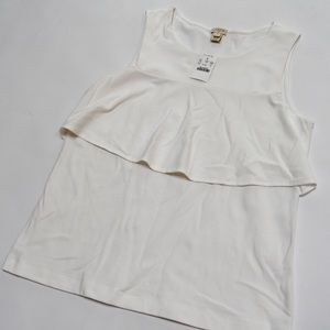 J. Crew Tops - J.Crew Factory White Sleeveless Blouse Size M